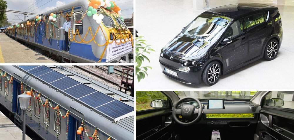 Chlorine chemistry in solar panels helps power electric car & train